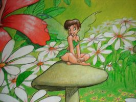 Tinkerbell and friends mural by MuralsbyLeBold
