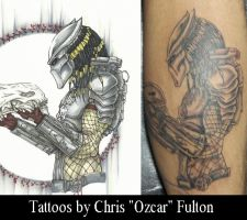 Predator Tattoo by ChrisOzFulton