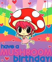 A Mushroom birthday by extremely-shitified