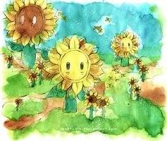 Mario Sunshine: Sunflowers by Rocktuete