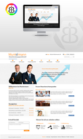 Homepage for a Finance Company by z3rx