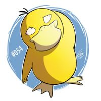 054 - Psyduck by steven-andrew