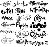 BW Logo Typography Practice - Gen 2/4 Batch by OddPenguin