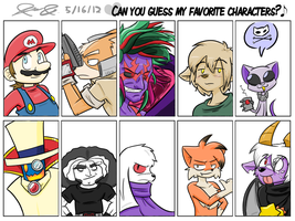 My Favorite Characters Meme by Mister-Saturn