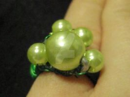 Green Pearls Ring by GeokataDK