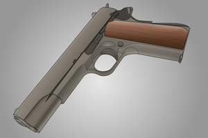 M1911 with contours by Ktostam25