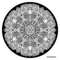 Mandala hand drawing 47 by Mandala-Jim