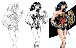 Wonder Woman Stages by artofJEPROX
