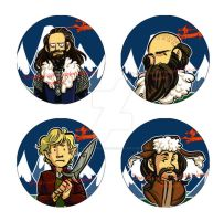 Hobbit button set 1 by dances-with-hipsters
