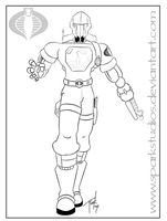 Cobra B.A.T. Lineart by SparkStudios