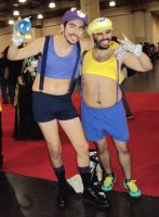 NYCC '12: Sexy Waluigi and Wario by PanicPagoda