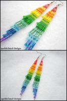 Fading Rainbow Earrings by Natalie526