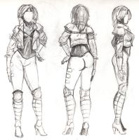 Female Gambit Design Sheet by steevinlove