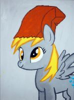 Derpy hooves canvas painting by LightningChaser