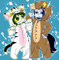 KS - Cat and Horse by Erina-chan
