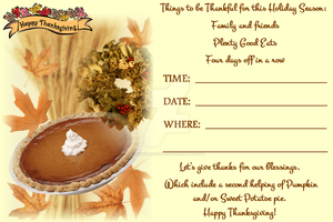 Thanksgiving Invitation IV by ZandKfan4ever57