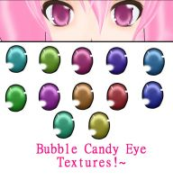 MMD Bubble Candy Eye Textures by kitcat190