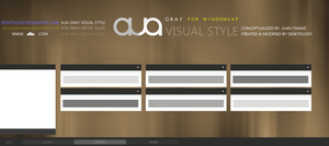 AuA gray Visual style by Desktology