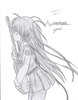 Yui Angel Beats by fadelesswolf