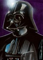 Darth Vader Sketch Card by RandySiplon