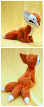Three-Tailed Kitsune Plush by FollyLolly