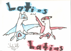 Latios and Latias by sheibakelly