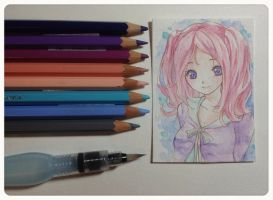 Water colour pencils by PastelCake