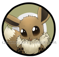 Eevee button by Gatodae