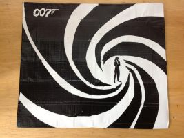 007 duct tape canvas by Brutechieftan