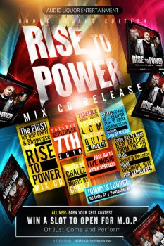 Rise To Power CD Release Flyer by AnotherBcreation