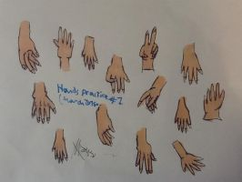 Hands drawing (practice) by surimix