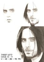 Jared Leto - Drawing evolution by thierryart