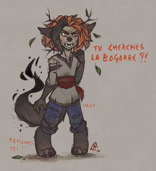 Angry young Samou. [WI] by Raziel-ulf