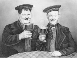 Laurel and Hardy by ArtisAllan