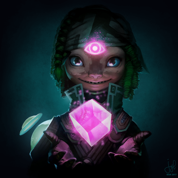 Guild Wars 2 Portrait Commissions - Asura Mesmer by duckgirl722