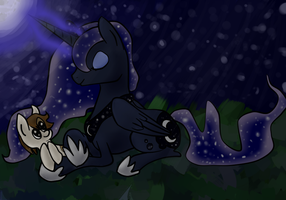 Raising the moon with friends by Opalwhisker