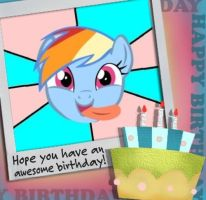 Rainbow Dash Birthday Card by snakeman1992