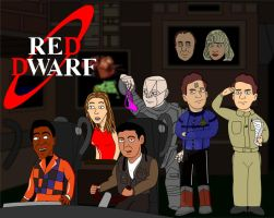 Red Dwarf Crew by silentmike86
