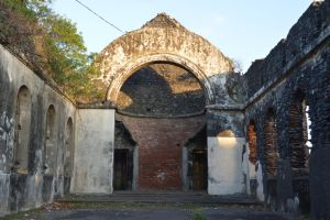 Ruins of church destroyed by hurricane by A1Z2E3R