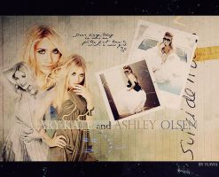 Mary-Kate and Ashley Olsen by demolitionn