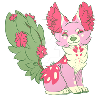 Flower Fox [OPEN AUCTION] by wolves-strife