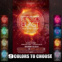 Electro Blast Flyer Template by MCerickson