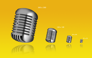Icon. Microphone by KriGH