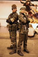 Naked Snake and The Joy. by gaming-goddess