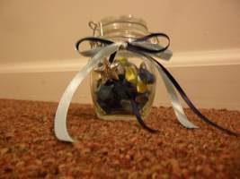 Starry Night wishing jar by StrigineSensibility