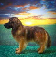 Needle Felt Leonberger Dog by heartfeltcanines
