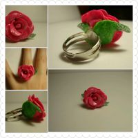 Beauty and the beast Rose Ring by ChemicalPhilosophy
