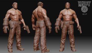 Hellboy W.I.P by 3dsquid