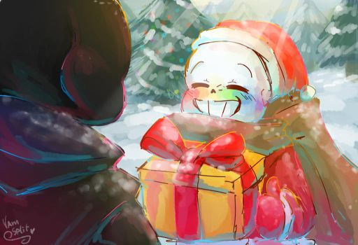 Merry Christmas Error! - Ink!Sans by VanaBananaSplit