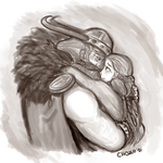 Stoick and Valka by RaineEvans